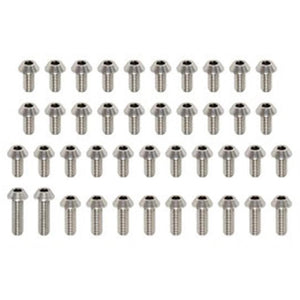 YOKOMO High precision cutted Titanium 3mm screw set (RP-100