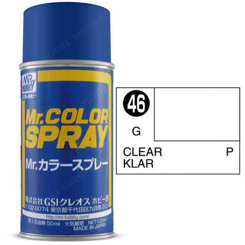 Image of MR HOBBY Mr Color Spray Gloss Clear - S046