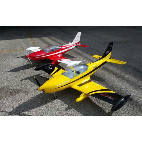 Image of Sebart SF260 50E RC Plane, ARF, Yellow Black Scheme