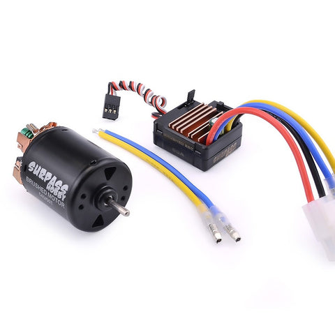 Image of Surpass Hobby 540 Brushed Motor 3-slot 21T w/ 60A ESC Combo