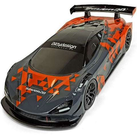 Image of BITTYDESIGN Seven20 1/10 GT Clear Body Shell 190mm