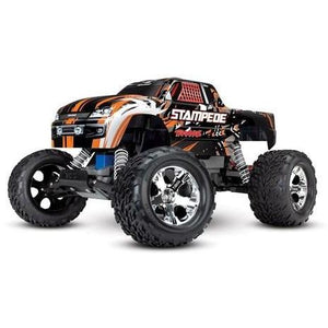 TRAXXAS STAMPEDE RTR W/XL-5 ESC - ORANGE
