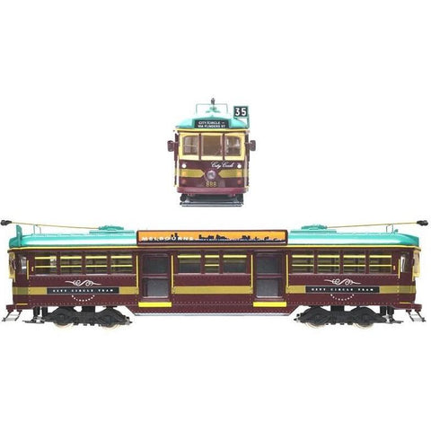 COOEE 1/76 Electric City Circle Tram - Red (TRAMEC)