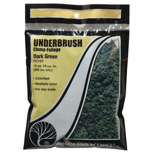 WOODLAND SCENICS Dark Green Underbrush (Bag)