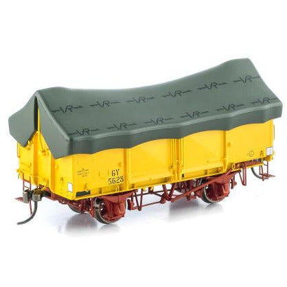 AUSCISION GY Wagon VR Hansa Yellow (w/Green Tarp) 6 Car Pac