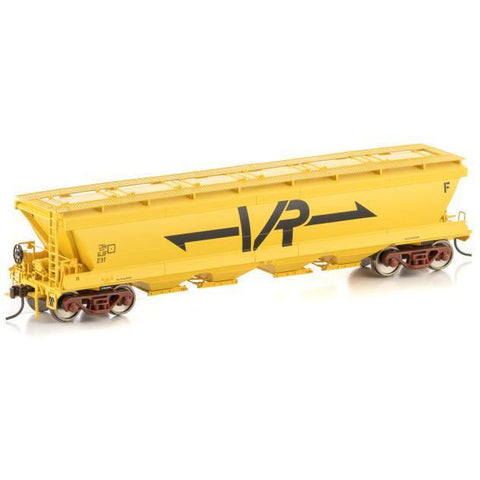 AUSCISION VHGY Grain Hopper VR Yellow (4 Car Pack) (ACM-VGH