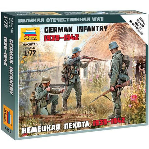 ZVEZDA 6105 1/72 German Infantry East Front 1941 Plastic Mo