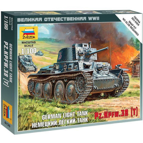 ZVEZDA 6130 1/100 German 38t Tank Plastic Model Kit