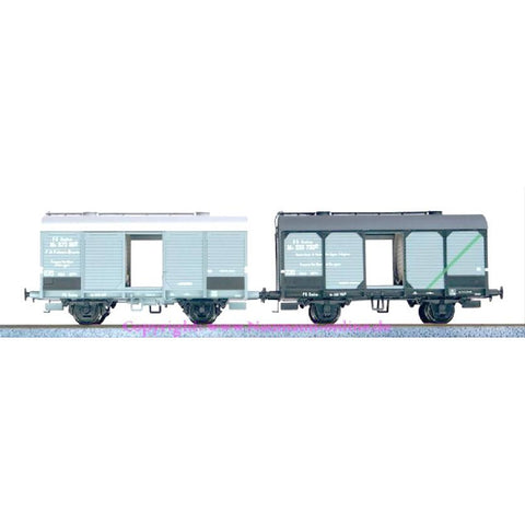 ACME HO Italian 2pc Wagon Set Type Mv Loaded with Wine Barr