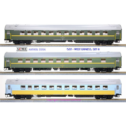 ACME HO 3pc Passenger Coach Set - Set B (AC55136)