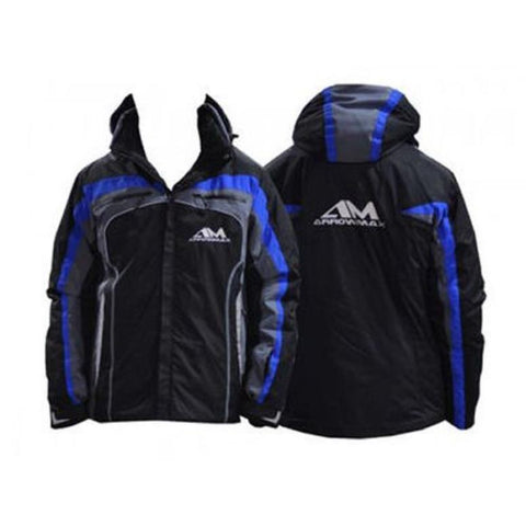 Image of ARROWMAX Winter Jacket AM Black-Blue Hooded (2XL)(AM-140019)