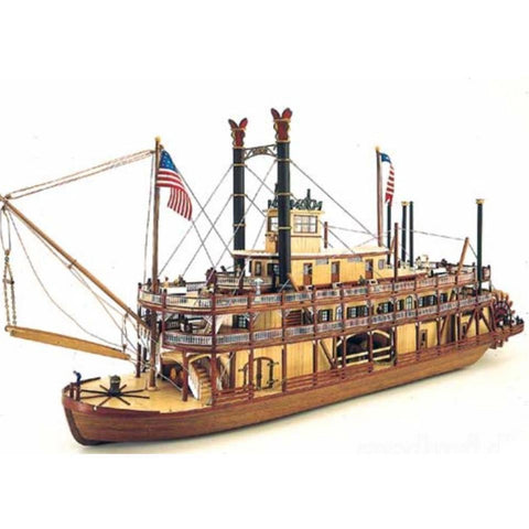 Image of ARTESANIA 1/50 Mississippi II Paddlewheel Steamboat Wooden