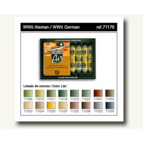 Vallejo Model Air German WWII 16 Colour Set (AV71179)