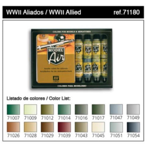 VALLEJO Model Air Allied Forces WWII 16 Colour Set