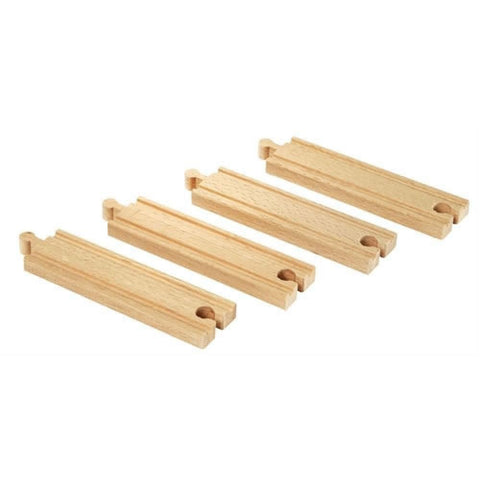 BRIO - Medium Straight Tracks 4 pieces