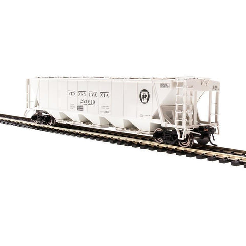 "BROADWAY LIMITED HO H32 Covered Hopper, PRR, Gray with ""PEN"