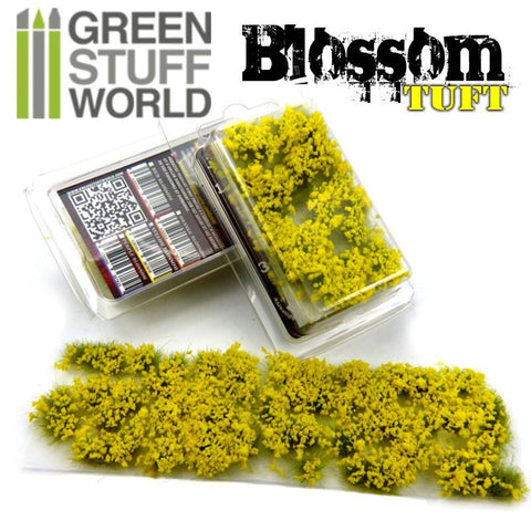 GREEN STUFF WORLD Blossom Tufts - 6mm Self-Adhesive Yellow