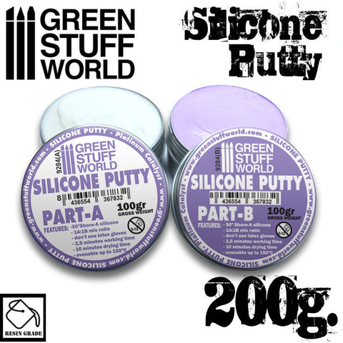 Image of GREEN STUFF WORLD Violet Silicone Putty 200gm