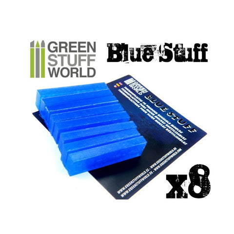 Image of GREEN STUFF WORLD Blue Stuff Molds (8 bars)