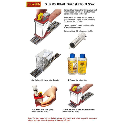 PROSES Ballast Gluer (Fixer) for N Scale Tracks