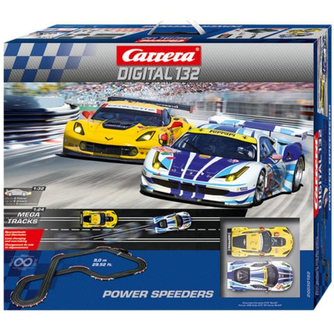 CARRERA Digital 132 Power Speeders Set - Ferrari 458 & Corv