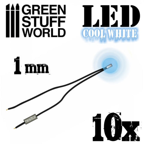 GREEN STUFF WORLD Micro LEDs - Cool White Lights - 1mm (040