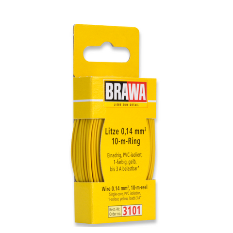 BRAWA Wire 0.14 mm², Yellow