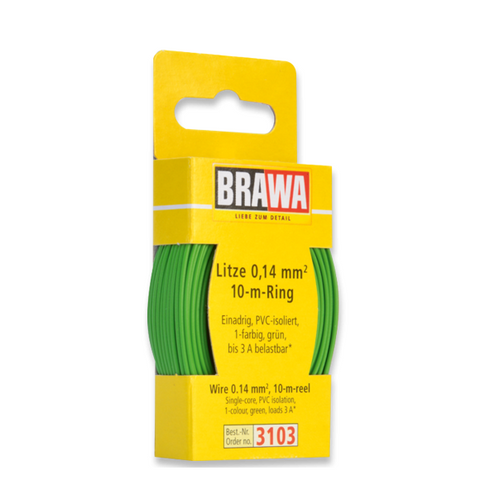Image of BRAWA Wire 0.14 mm², Green