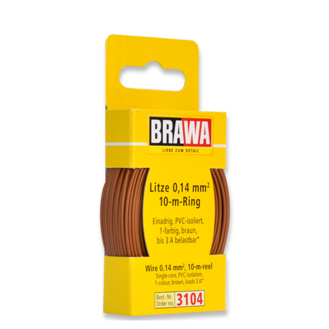 BRAWA Wire 0.14 mm², Brown