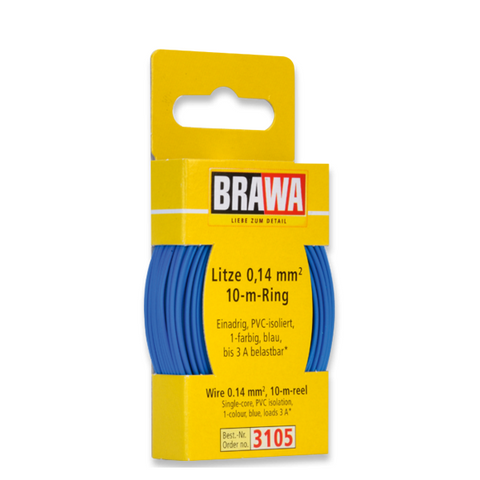 Image of BRAWA Wire 0.14 mm², Blue