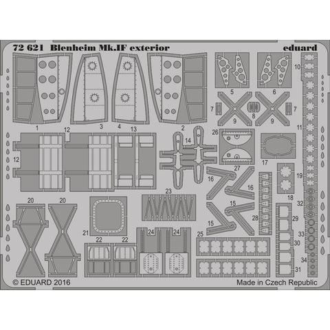 EDUARD Photo etched set for 1/72 Blenheim Mk.IF exterior (7