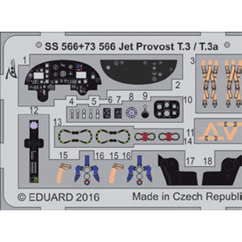 EDUARD Zoom set for 1/72 Jet Provost T.3 / T.3a (SS566)