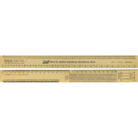 EXCEL 12inDELUXE MODEL RAILROAD RULER