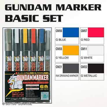 Image of GSI Gundam Marker Basic Set - GMS105