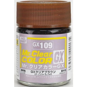 GUNZE Mr Clear Colour GX Brown lacquer paint (GN GX109)