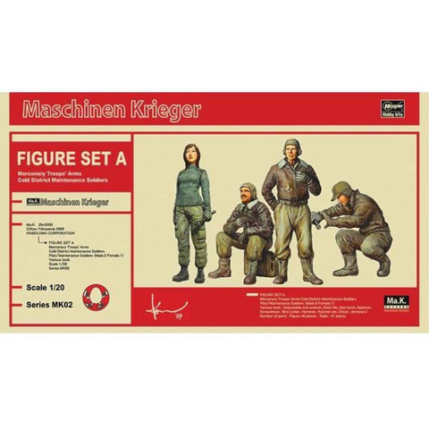 HASEGAWA MA.K FIGURE SET A MERCENARY TROOPS ARMS COLD DISTR