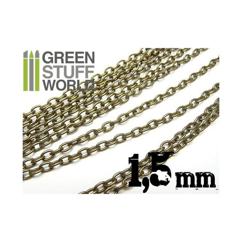 GREEN STUFF WORLD Hobby Chain 1.5mm - Bronze