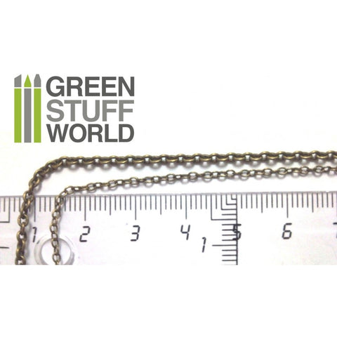 GREEN STUFF WORLD Hobby Chain 3mm - Bronze