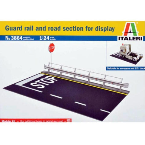 ITALERI 1/24 Guard Rail and Road Section For Display Plasti