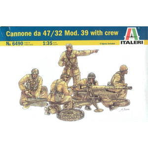 ITALERI 1/35 Cannone DA 47/32 Mod.39 With Crew Plastic Mode