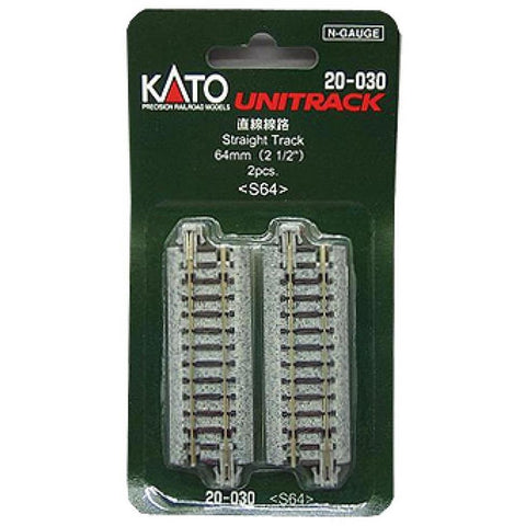 KATO N Unitrack Straight 64mm 2Pk