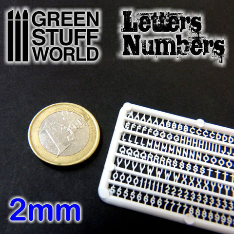 GREEN STUFF WORLD Letters and Numbers 2mm