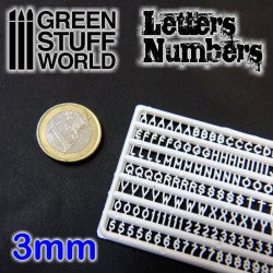 GREEN STUFF WORLD Letters and Numbers 3mm