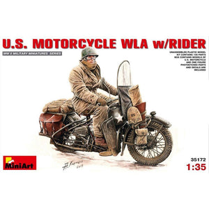 MINIART 1/35 U.S.Motorcycle WLA with Rider