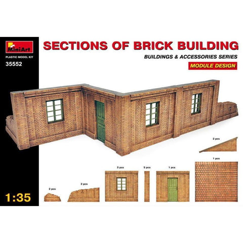 MINIART Sections of Brick Building. Module design.