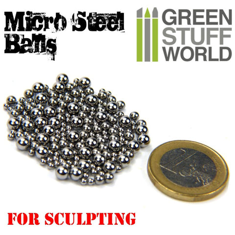 GREEN STUFF WORLD Micro Steel Balls (2 - 4mm)