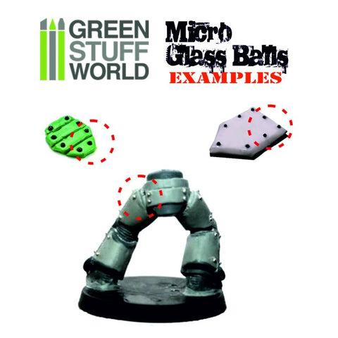GREEN STUFF WORLD Mixed Micro Glass Balls (0.5 - 1.5mm)