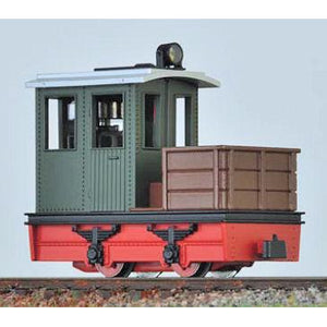 MINITRAINS Contractor Loco Green w/Red Chassis (MT-2003)