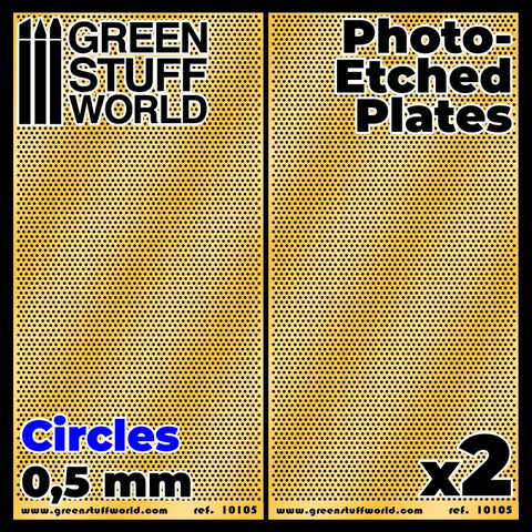 GREEN STUFF WORLD Photo-etched Plates - Circles - Size S (2