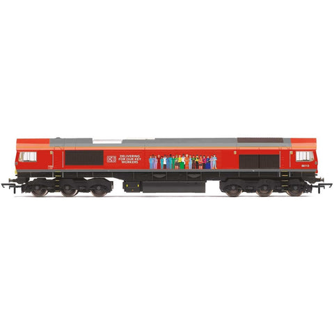 HORNBY DB, Class 66, Co-Co, 66113 'Delivering For Our Key W
